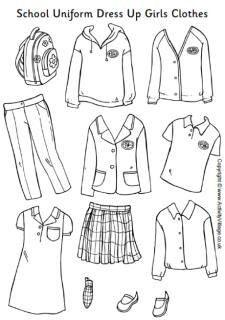 School Uniform Dress Up Girls Clothes School Uniform Outfits