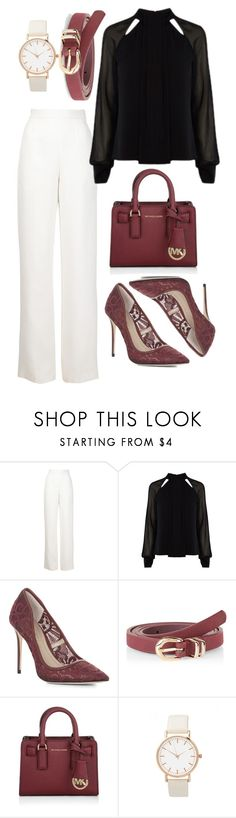 """""""Business Babe"""" by samanthawulf on Polyvore featuring Maison Rabih Kayrouz, BCBGMAXAZRIA, Michael Kors, women's clothing, women, female, woman, misses, juniors and WorkWear"""