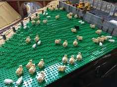 #Brickvention 2016 @ the Royal Melbourne Exhibition Building. Sheep! Lego is sometimes best appreciated from standing back