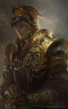24 Awesome Digital Painting by Robin Ruan - artbrew Fantasy Male, Fantasy Armor, High Fantasy, Medieval Fantasy, Character Concept, Character Art, Concept Art, Dnd Characters, Fantasy Characters