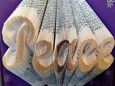 Folded Book  - Peace