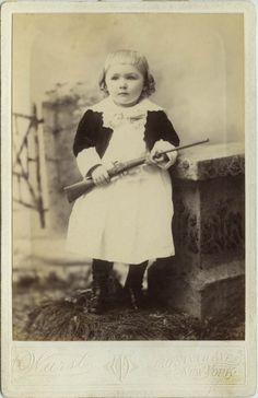 ca. 1890, [portrait of a young girl with a  gun], Wurst