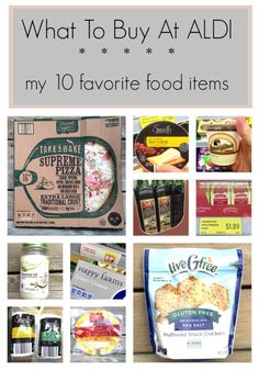 What to buy at ALDI: My 10 favorite food items. Click through to see the best deals!