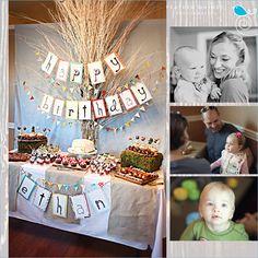 Kara's Party Ideas Retro Woodland 1st Birthday Party - Kara's Party Ideas - The Place for All Things Party