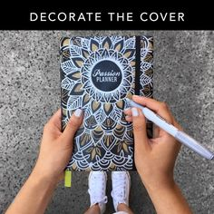 Want to add more personality to your planner? Decorate your Passion Planner cover with Sharpies or paint to customize it to your tastes!