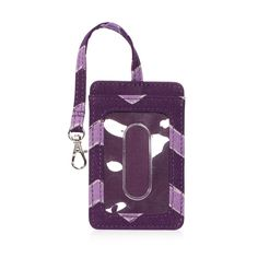 Badge Buddy in Plum Chevron for $7 - If you're looking for the perfect place to hold a badge or photo ID, this style's for you! Available in several cute prints, our Badge Buddy has a clear exterior display window, secured with a D-ring and lobster claw clasp. Via @thirtyonegifts