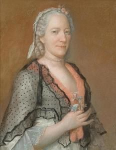 Jean Etienne Liotard - Portrait Of Elisabeth Seippel, Née Bourguet.