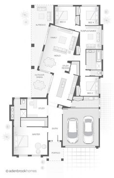 single-storey-home-design-the-heydon-by-adenbrook-homes-adenbrook-design-floorplans-heydon-home-homes-single-storey/ SULTANGAZI SEARCH Home Design, Design Design, Design Ideas, Interior Design, Storey Homes, Basement Bedrooms, House Floor Plans, Architecture Design, New Homes