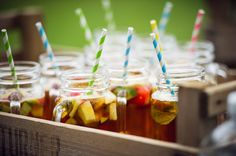 Pimms o'clock wedding arrival drinks.