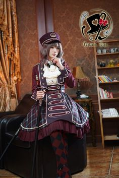 Rabbit Teeth ~Ode to Nepoleon~ Military Lolita Hat