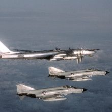 Russian Bombers fly near Alaska    F-4Es and Bear Bomber-220x220