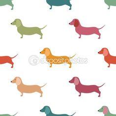 Söta små hundar scotch terrier silhouette sömlösa.