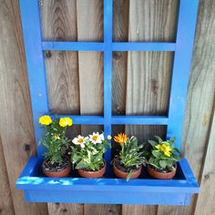 Window Flower Box. This would look awesome on the outside of our garage!