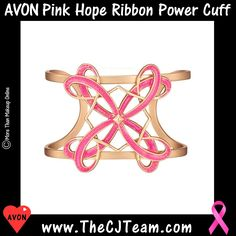 ️🎗️ Pink Hope Ribbon Power Cuff. Avon. Exclusive. Limited-Edition. The things you want. The causes that matter. Giving back is always in fashion. Show your devotion by wearing the goldtone openwork cuff with pink accents. Reg $20 w/ Donation to the Avon Foundation for Women. #Causes #CJTeam #Avon #Style #Hope #BreastCancerCrusade #Bracelet #Cuff #Donation #GreaterGoods #Jewelry #PinkRibbon #Avon4me #C22 Shop Greater Goods Avon online @ www.TheCJTeam.com