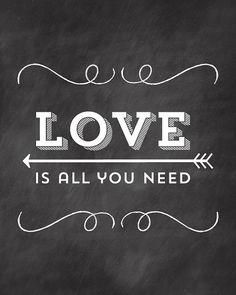 All you need is LOVE - font for love to make bonus room chalkboards