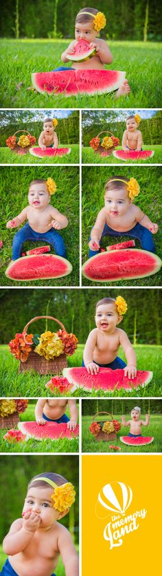 Babies and Kids Photography. Cute Kids. Model Kids. Baby Girl.Watermelon Inspiration. Natural Photoshoots Check out more of our work :) http://www.thememoryland.com/