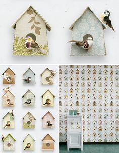 Studio ToutPetit: Wee Walls Wednesdays * B is for Birdhouse