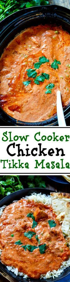 With this easy recipe you can enjoy one of your Indian… Slow Cooker Tikka Masala. With this easy recipe you can enjoy one of your Indian restaurant favorites at home. Pollo Masala, Chicken Tikka Masala, Crock Pot Slow Cooker, Crock Pot Cooking, Cooking Recipes, Slow Cooker Curry, Crock Pots, Indian Food Recipes, Asian Recipes