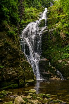 'Wodospad Kamienczyka', a big waterfall in the Karkonosze mountains in Poland. The setting was used for one of the Narnia movies.