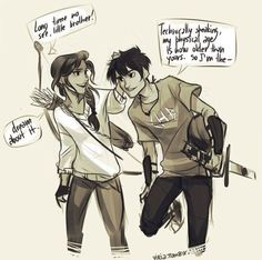 Bianca and Nico Di Angelo. FEELS.