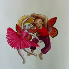 """Flower People Illustration by: Fiona Moodie from """"Fynbos Fairies. People Illustration, Children's Book Illustration, Fairy Tea Parties, Tea Party, African Animals, Fairies, Childrens Books, Fairy Tales, Illustrator"""