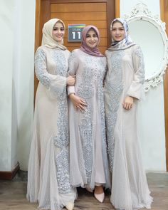 Party Nigth Outfit Dresses Fashion 17 Ideas For 2019 Dress Brokat, Kebaya Dress, Hijab Dress, Dress Outfits, Abaya Fashion, Fashion Dresses, Fashion Fashion, Fashion Ideas, Muslimah Wedding Dress