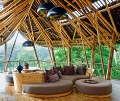 The Breathtaking Private Homes of the Green Village [ BALI ] Bamboo Village, Bamboo House Design, Bamboo Building, Bali House, Bamboo Structure, Bamboo Construction, Bamboo Architecture, Earthship, Tulum