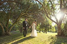 A walk in the woods - magical wedding photo at the Oija Valley Inn and Spa. Photo by Joy Marie Studios.