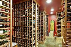 Fully stocked San Francisco wine cellar.