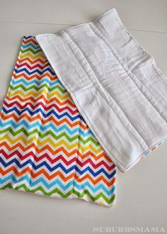 Suburbs Mama: Baby Burp Cloth Tutorial