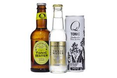 From left: Fentimans tonic, Fever Tree tonic and Subtle Q tonic Tonic Water, Gin And Tonic, Beer Bottle, Whiskey Bottle, Fentimans, Bitterness, Beverages, Drinks, Mixers