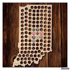 XL Natural Birch Plywood Beer Cap Map Of USA Plywood And Birch - Indiana beer cap map