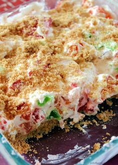 """Some people call this dessert """"stained glass"""" and others call it """"broken glass"""". We've always called it broken glass. Jello Dessert Recipes, Icebox Desserts, Rhubarb Desserts, Fruit Salad Recipes, Pudding Desserts, Pie Dessert, Jello Salads, Dessert Ideas, Light Desserts"""