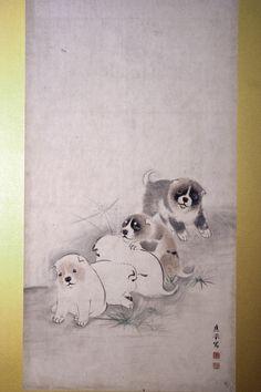 円山応挙 Okyo Maruyama puppies