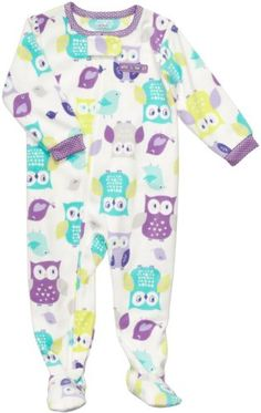 Carter`s Girls OWL Fleece Footed Blanket Sleeper Pajamas - List price: $22.00 Price: $14.99