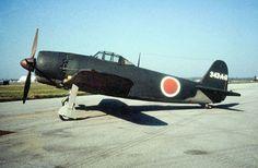 "A Kawanishi N1K2-Ja Shiden Kai (""George"") fighter aircraft. The Kawanishi N1K-J…"