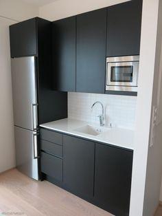 Kitchen Room Design, Kitchen Cabinet Design, Modern Kitchen Design, Home Decor Kitchen, Interior Design Kitchen, Small Apartment Interior, Condo Interior, Bathroom Interior, Small Modern Kitchens