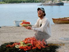 Windjamming is... enjoying traditional all-you-can-eat Down East lobster bakes on pristine beaches. #ThisIsWindjamming www.sailmainecoast.com