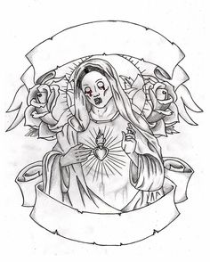 38 Best Mary Tattoo Outlines images | Mary tattoo, Tattoo ...