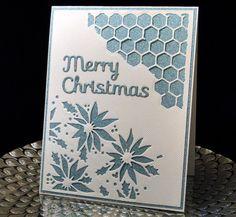 Christmas 2016 for teachers Tim Holtz Media dies, Spellbinder Merry Christmas. Glitter suede dp. Created by Peggy Dollar