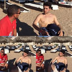 @barone_piero  Shared by Nautilus Beach Club  Piero without facial or chest hair or glasses.  Looking soooooo handsome!!