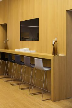 office counter with Arper's Ava stools