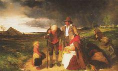 A painting depicting the Irish potato famine