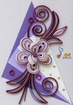 neli: Quilling small cards-/ 7.4cm-5.2cm/