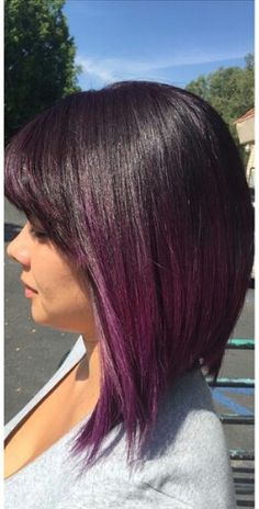 Longer than this of course, but I love the purple ombré with dark hair