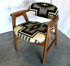 La La Land (Original Motion Picture Soundtrack - Modern Chair - Ideas of Modern Chair - Mid Century chair with Pendleton Portland Collection Navajo upholstery at MODERNHAUS Design Furniture, Home Furniture, Furniture Chairs, Eames, Décor Antique, Lounge Seating, Lounge Chairs, Dining Chairs, Club Chairs