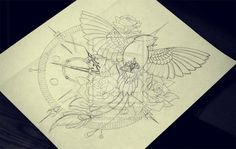 Phoenix - sketch - commission by quidames