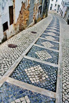 "The famous Portuguese cobblestone pavement (""calcadas"") in Belèm ~ photo by Sabine Ostermann www.pure-image.eu"