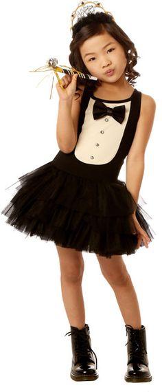 Ooh La La Couture Black & White Tuxedo Dress