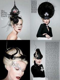Daphne Guinness has one of the chicest, coolest styles on the planet. Rock n roll and elegance all rolled into one crazy-haired package. Cool Style, My Style, Badass Style, Daphne Guinness, Philip Treacy, Body Adornment, Couture Fashion, World Of Fashion, Style Icons